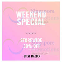 Read more about Steve Madden 30% Off Storewide @ 3 Outlets 24 - 25 Oct 2015