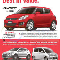 Suzuki Swift, S-Cross & Solio Offers 10 Oct 2015
