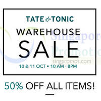 Read more about Tate & Tonic Warehouse Sale 10 - 18 Oct 2015