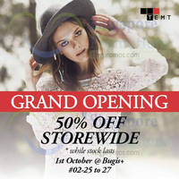 Read more about Temt 50% Off Storewide @ Bugis+ 1 - 4 Oct 2015