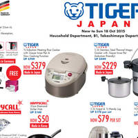 Read more about Tiger Japan, Fissler & Happycall Kitchenware Offers @ Takashimaya 2 - 18 Oct 2015