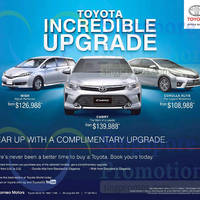 Read more about Toyota Wish, Camry & Corolla Altis Offers 3 Oct 2015