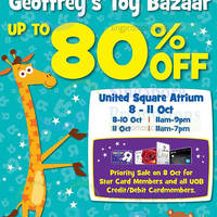 "Read more about Toys ""R"" Us Geoffrey's Toy Bazaar @ United Square 8 - 11 Oct 2015"