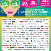 Watsons 20% to 30% off Over 200 Brands 9 Oct - 5 Nov 2015