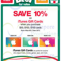 Read more about 7-Eleven 10% OFF iTunes Gift Cards Promotion 4 - 17 Nov 2015