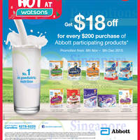 Read more about Abbott Milk Powders Get $18 off With Every $200 Spend 7 Nov - 9 Dec 2015