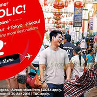 Air Asia fr $2 Promo Fares 30 Nov - 6 Dec 2015