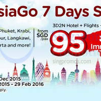 Air Asia Go 3D2N fr $95/pax (Flights + Hotels + Taxes ) 30 Nov - 6 Dec 2015