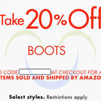 Read more about Amazon.com 20% OFF Boots (NO Min Spend) Coupon Code 15 - 20 Nov 2015