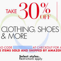 Read more about Amazon.com 30% OFF Clothing, Shoes & More (NO Min Spend) Black Friday Coupon Code 26 - 28 Nov 2015