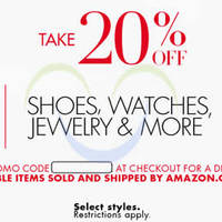 Read more about Amazon.com 20% OFF Shoes, Watches, Jewellery & More (NO Min Spend) Coupon Code 20 - 26 Nov 2015