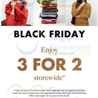 Banana Republic Storewide Buy 2 Get 1 Free Black Friday Promo 27 - 29 Nov 2015