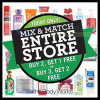 Bath & Body Works Buy 2 Get 1 Free Storewide Black Friday Promo 27 Nov 2015