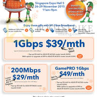 M1 SITEX 2015 Home Broadband, Mobile & Other Offers 26 - 29 Nov 2015