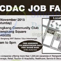 Read more about CDAC Job Fair @ Sengkang Community Club 14 Nov 2015