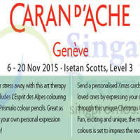 Read more about Caran d'Ache Geneve Event @ Isetan Scotts 6 - 20 Nov 2015