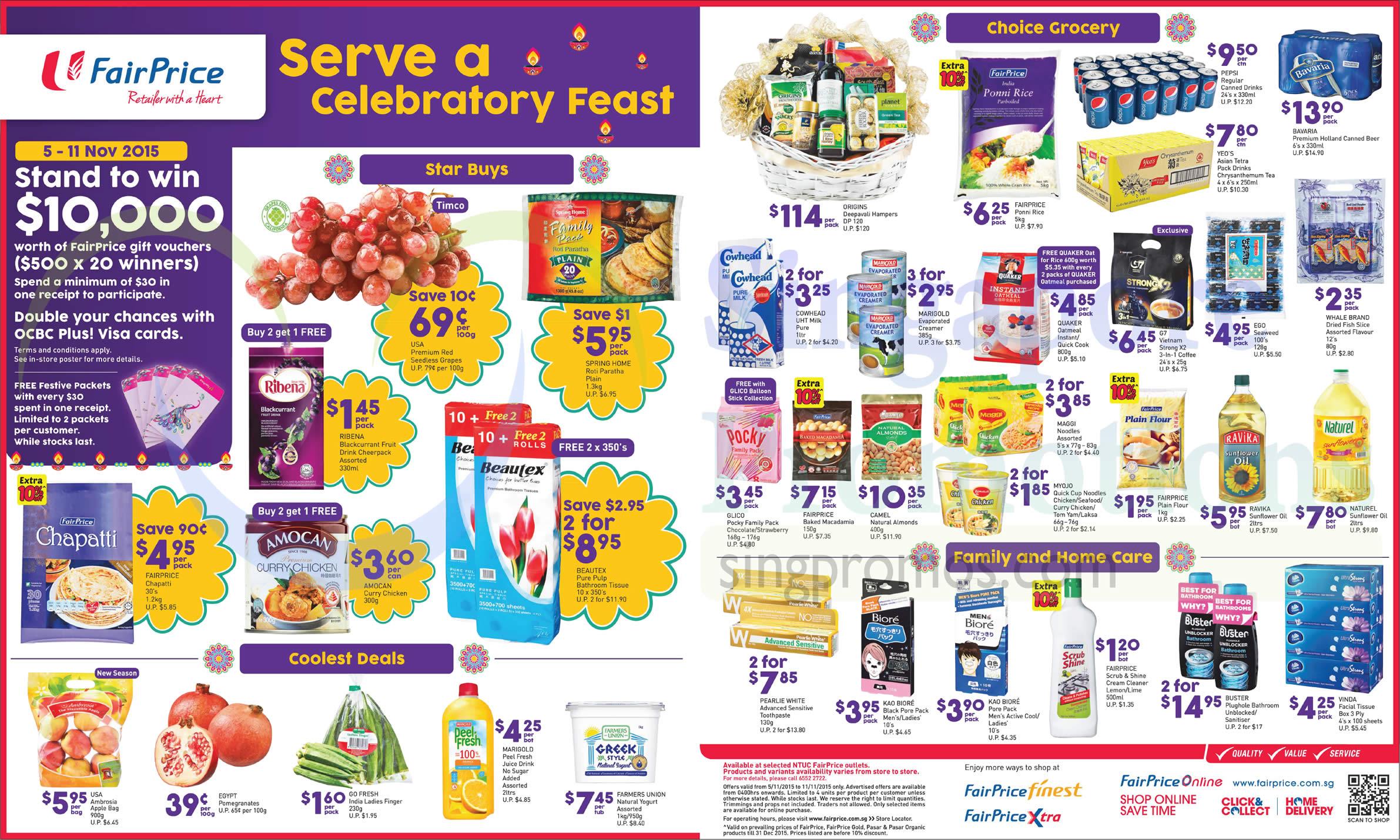 Celebratory Feast Fruits, Groceries, Family, Home Care, Ribena,