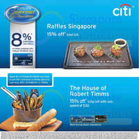 Read more about Raffles Singapore & The House of Robert Timms Offers For Citibank Cardmembers 8 Nov - 31 Dec 2015