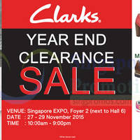 Read more about Clarks Year End Clearance Sale @ Singapore Expo 27 - 29 Nov 2015