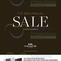 Read more about Coach Semi-Annual Sale From 19 Nov 2015