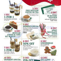 Read more about Dome Cafe 1-for-1 & More 12-Days of Christmas Promotions 1 - 12 Dec 2015
