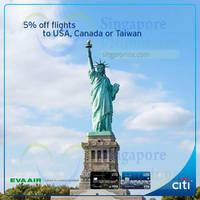 Read more about Eva Air 5% Off with Citibank Cards 7 Nov 2015 - 31 Aug 2016