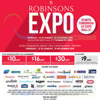 Read more about Robinsons Expo @ Singapore Expo 12 - 22 Nov 2015