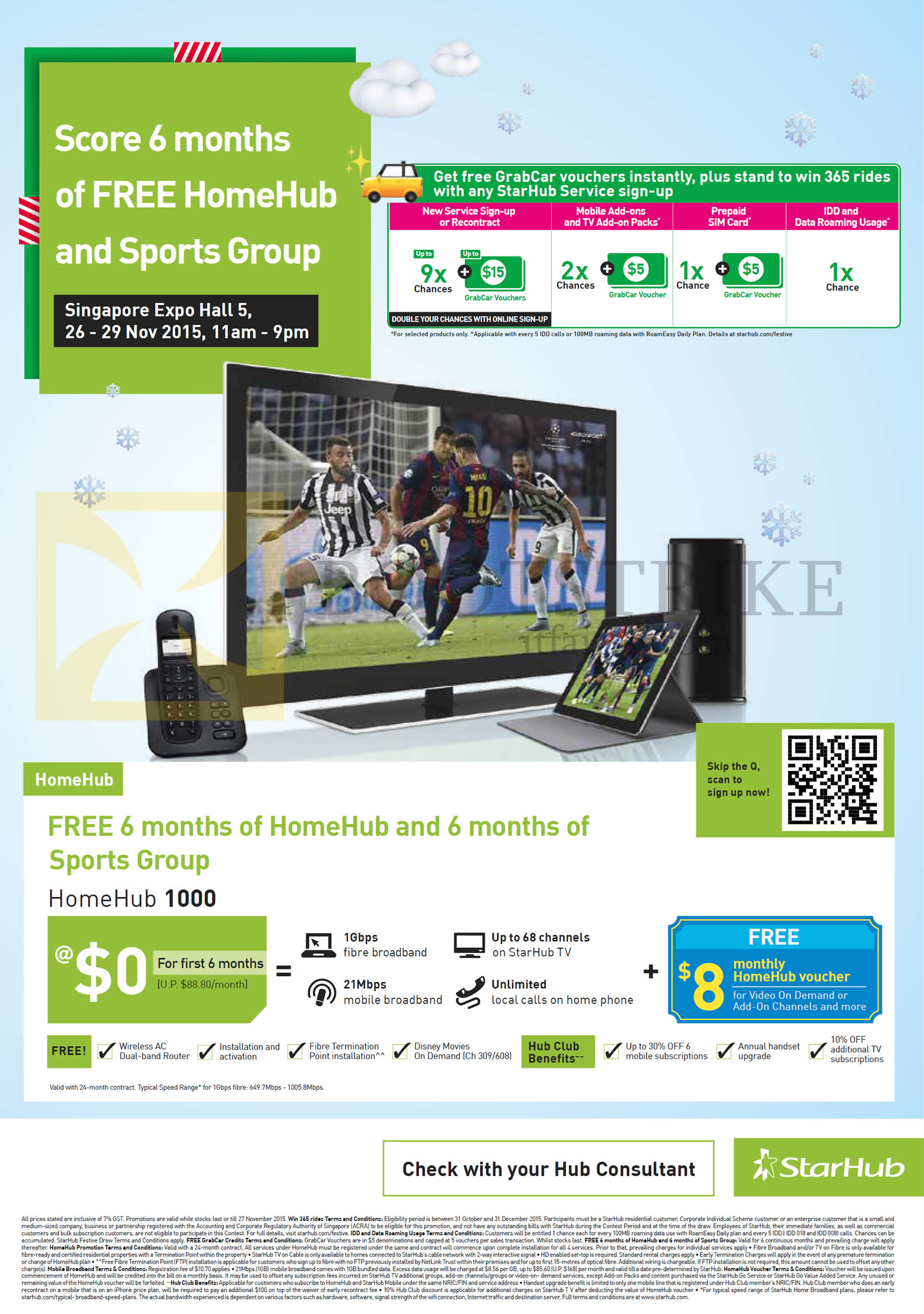 Free 6 Months HomeHub, 6 Months of Sports Group