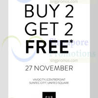 Gap Buy 2 Get 2 Free Black Friday Promotion 27 Nov 2015