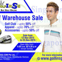 Read more about Golfinsg Golf Warehouse Sale 12 - 21 Nov 2015