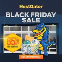 HostGator Web Hosting 65% OFF Black Friday 24hr Promo 30 Nov - 1 Dec 2015