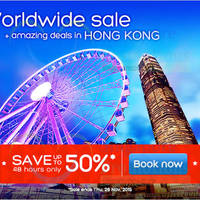 Hotels.com Up To 50% Off 48hr Worldwide Sale 25 - 26 Nov 2015