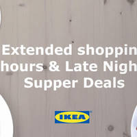 Read more about IKEA Extended Opening Hours (Fri & Sat) 4 - 19 Dec 2015