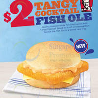 Read more about KFC New $2 Tangy Cocktail Fish Ole Burger From 18 Nov 2015