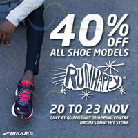 Read more about Brooks 40% Off All Shoes @ Queensway Shopping Centre 20 - 23 Nov 2015