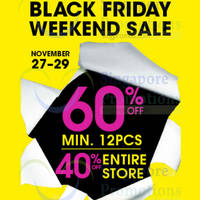 La Senza 40% to 60% Off Storewide Black Friday Promotion 28 - 29 Nov 2015