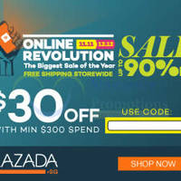 Read more about Lazada $30 OFF $300 Spend Storewide 1-Day Coupon Code 11 Nov 2015