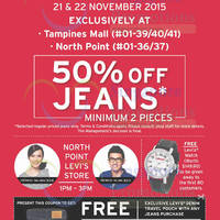Read more about Levi's 50% Off Jeans @ Tampines Mall & Northpoint 21 - 22 Nov 2015