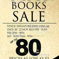 Read more about MPH Bookstores Books Sale @ Singapore Expo 21 - 22 Nov 2015