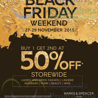 Read more about Marks & Spencer Black Friday Weekend Special 27 - 29 Nov 2015