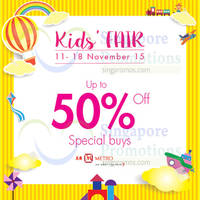 Read more about Metro Up to 50% Off Kids Fair @ Centrepoint 12 - 18 Nov 2015