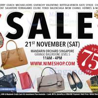 Read more about Nimeshop Branded Handbags Sale @ Mandarin Orchard 21 Nov 2015