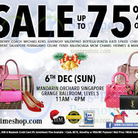 Nimeshop Branded Handbags Sale @ Mandarin Orchard 6 Dec 2015