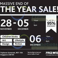 Read more about Page One End Of the Year Sale 28 Nov - 6 Dec 2015