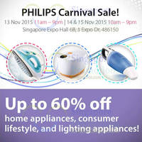 Read more about Philips Carnival Sale @ Singapore Expo 13 - 15 Nov 2015