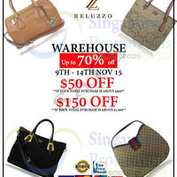 Read more about Reluzzo Up to 70% Off Warehouse Sale @ Woodlands Eleven 9 - 14 Nov 2015