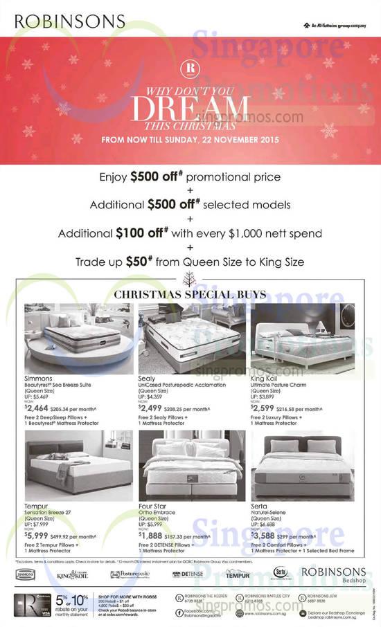 Robinsons Bedshop Mattress Offers 14 22 Nov 2015