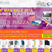 Read more about SD Perfume Pre-X'mas Perfume & Beauty Sale @ Capitol Piazza 2 - 25 Nov 2015