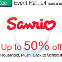 Sanrio Up To 50% Off Promotion @ Isetan Scotts 30 Nov - 9 Dec 2015