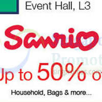 Sanrio Up To 50% Off Promotion @ Nex 2 - 8 Dec 2015